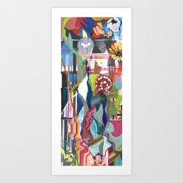 Flowers Climbing Art Print