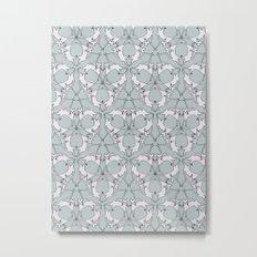 Cat Kaleidoscope Metal Print