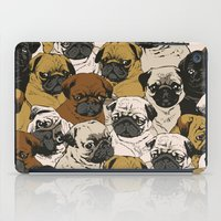 puppy iPad Cases featuring Social Pugz by Huebucket