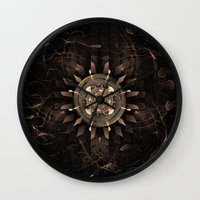 clockwork Wall Clocks featuring Clockwork by CreativeByDesign