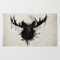 moose Area & Throw Rugs featuring Moose by Nicklas Gustafsson