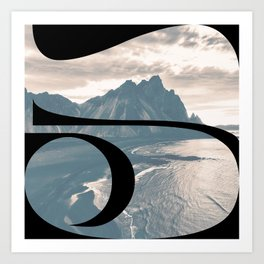 Nr. 5 | Numbers with a View | Typography Letter Art Art Print