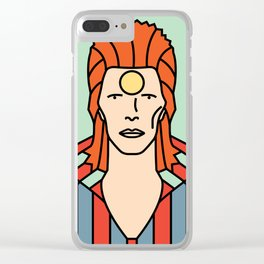 David Bowie – Ziggy Stardust Clear iPhone Case