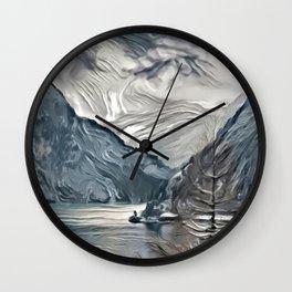 Grey Mountain Wall Clock