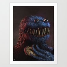 Cookie Monster Art Print