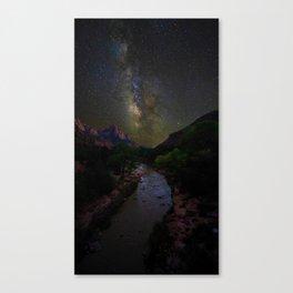Galaxy Mountain (Color) Canvas Print