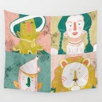oz Wall Tapestries featuring Oz by StinkyInky_Jess