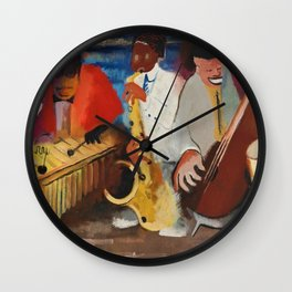 African American Masterpiece 'Jumpin Jive' by Norman Lewis Wall Clock
