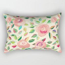 Pastel Roses in Blush Pink and Cream  Rectangular Pillow