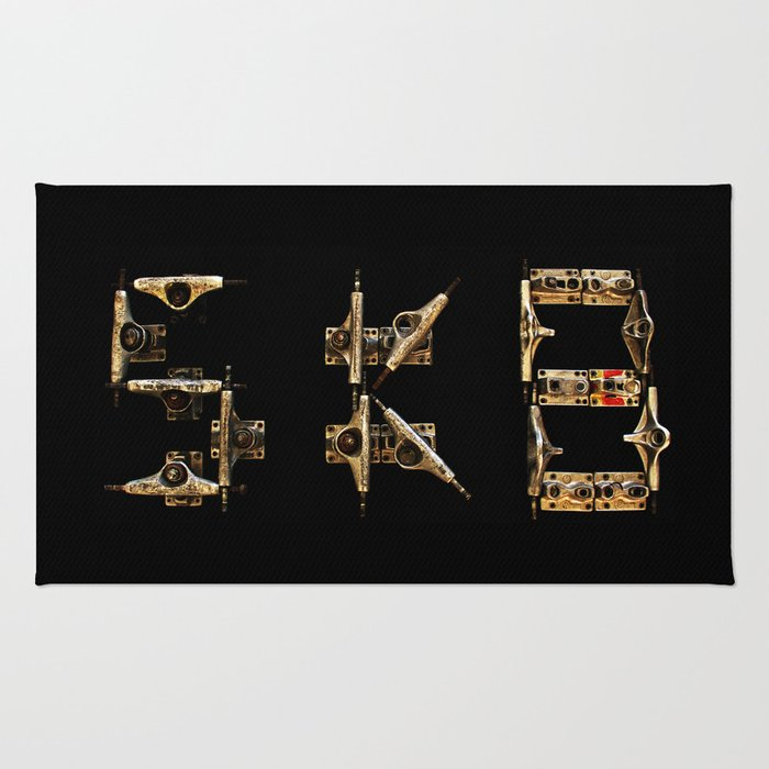 Sk8 typography Rug