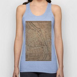 Map Of Rochester 1832 Unisex Tank Top