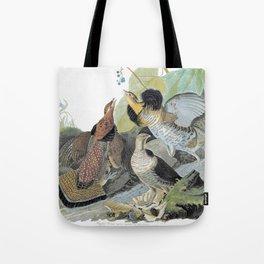 12,000pixel-500dpi - Ruffed Grouse - John James Audubon Tote Bag