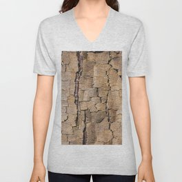 Brown tree trunk with abstract patterns and textures Unisex V-Neck