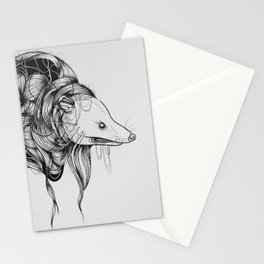 Possum Black Ink Drawing Stationery Cards
