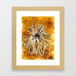 Anemone in Grey Framed Art Print