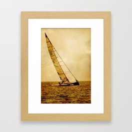 sailing in ocean Framed Art Print