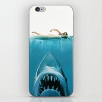 shark iPhone & iPod Skins featuring Shark by Maioriz Home