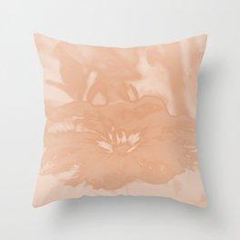 Bloom in Peach Tone Throw Pillow