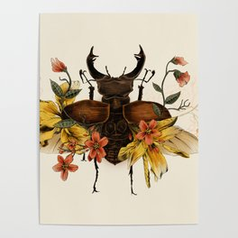 Blooming Beetle Poster