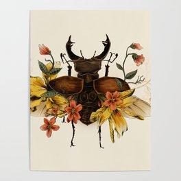 Blooming Beetle Poster