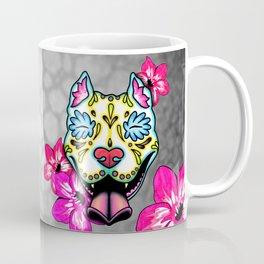 Slobbering Pit Bull - Day of the Dead Sugar Skull Pitbull Coffee Mug