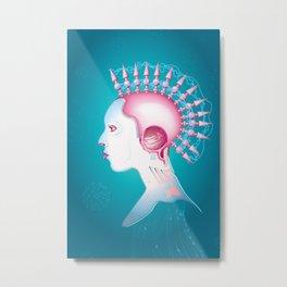 Cyber chick 002  Metal Print