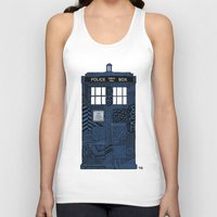 tardis Tank Tops featuring Tardis by Rebecca Bear