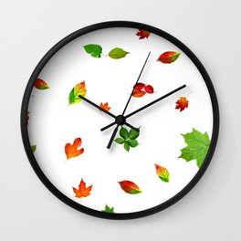 Colorul autumn leaves Wall Clock