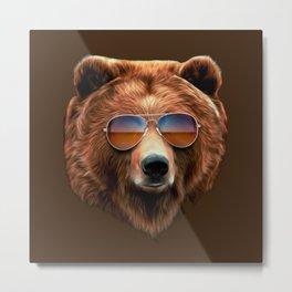 Bear Faced Cheek Metal Print
