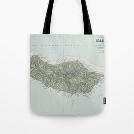 Vintage Madeira Island Map (1904) Tote Bag