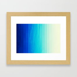 Blue Buffer Framed Art Print