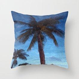 Bahama Palms at Dusk Throw Pillow