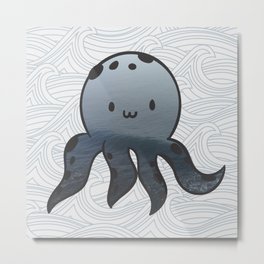 Little Octopus Metal Print