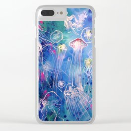 Jellyfish bloom Clear iPhone Case