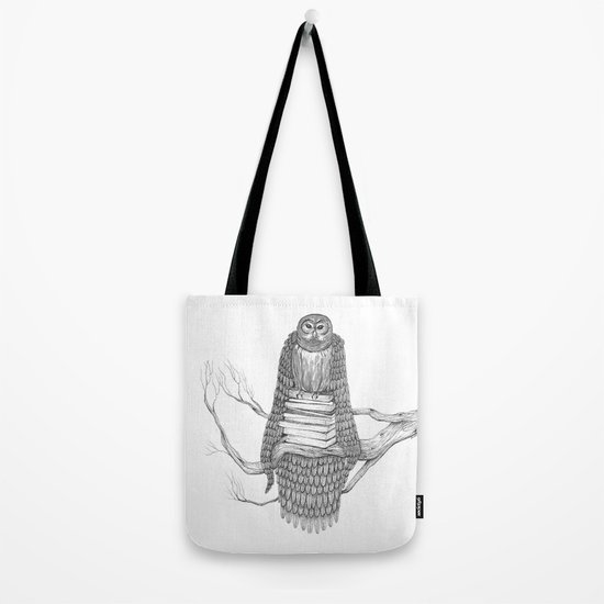The Owl- Feathered Tote Bag