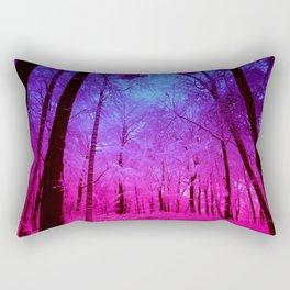 Fuchsia Violet Ombre Forest Rectangular Pillow