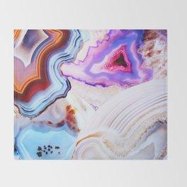 Agate, a vivid Metamorphic rock on Fire Throw Blanket