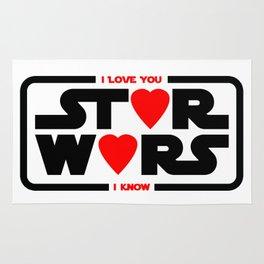 Star - I love you - I know - Wars Rug