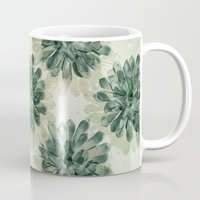 succulents Mugs featuring Succulents by Sandra Arduini