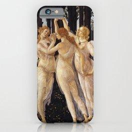 La Primavera - The Three Graces - Sandro Botticelli iPhone Case