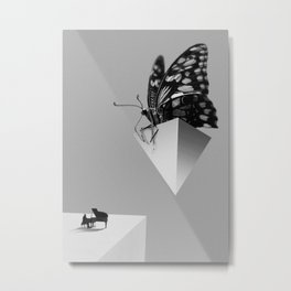 The Pianist & The Butterfly  Metal Print