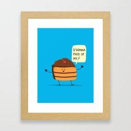 Trouble Baker Framed Art Print