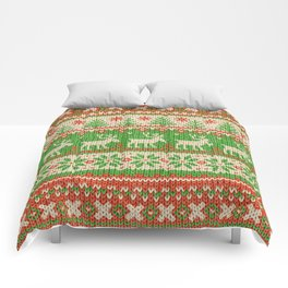 Ugly Christmas Sweater Digital Knit Pattern Comforters
