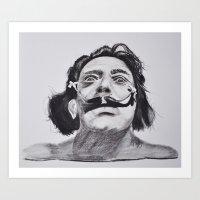 salvador dali Art Prints featuring Salvador Dali by Blasto17