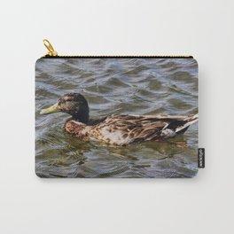 Female Mallard Duck Carry-All Pouch