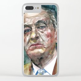 NABOKOV VLADIMIR - watercolor portrait.2 Clear iPhone Case