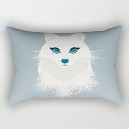 Arctic Fox Princess Rectangular Pillow