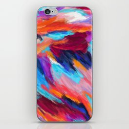 Bright Abstract Brushstrokes iPhone Skin