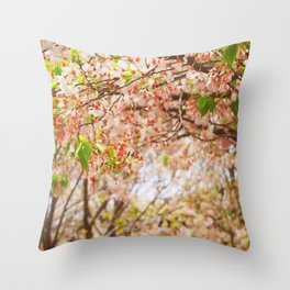 Cherry Blossom (sunny) Throw Pillow