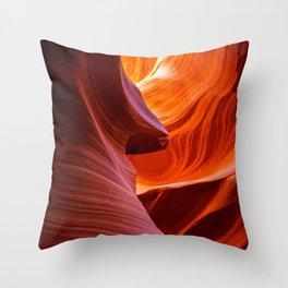 A Sculpture Of Nature Antelope Canyon Arizona Landscape Throw Pillow
